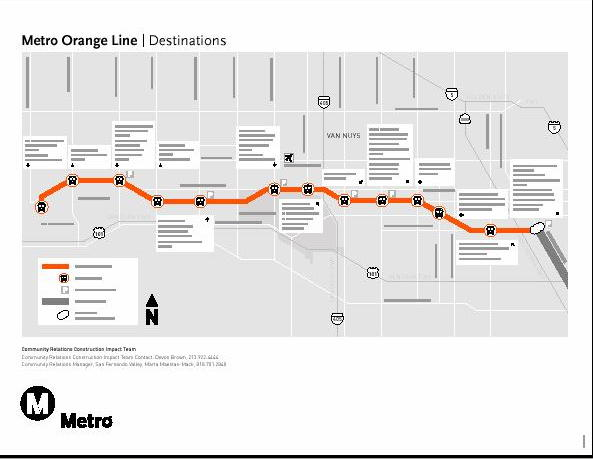 Los angeles county metro orange line map for The line los angeles